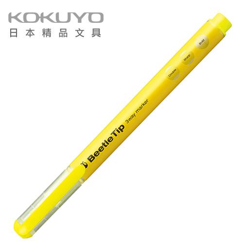 日本 KOKUYO  Beetle Tip獨角仙螢光筆 PM-L301Y-黃 / 支