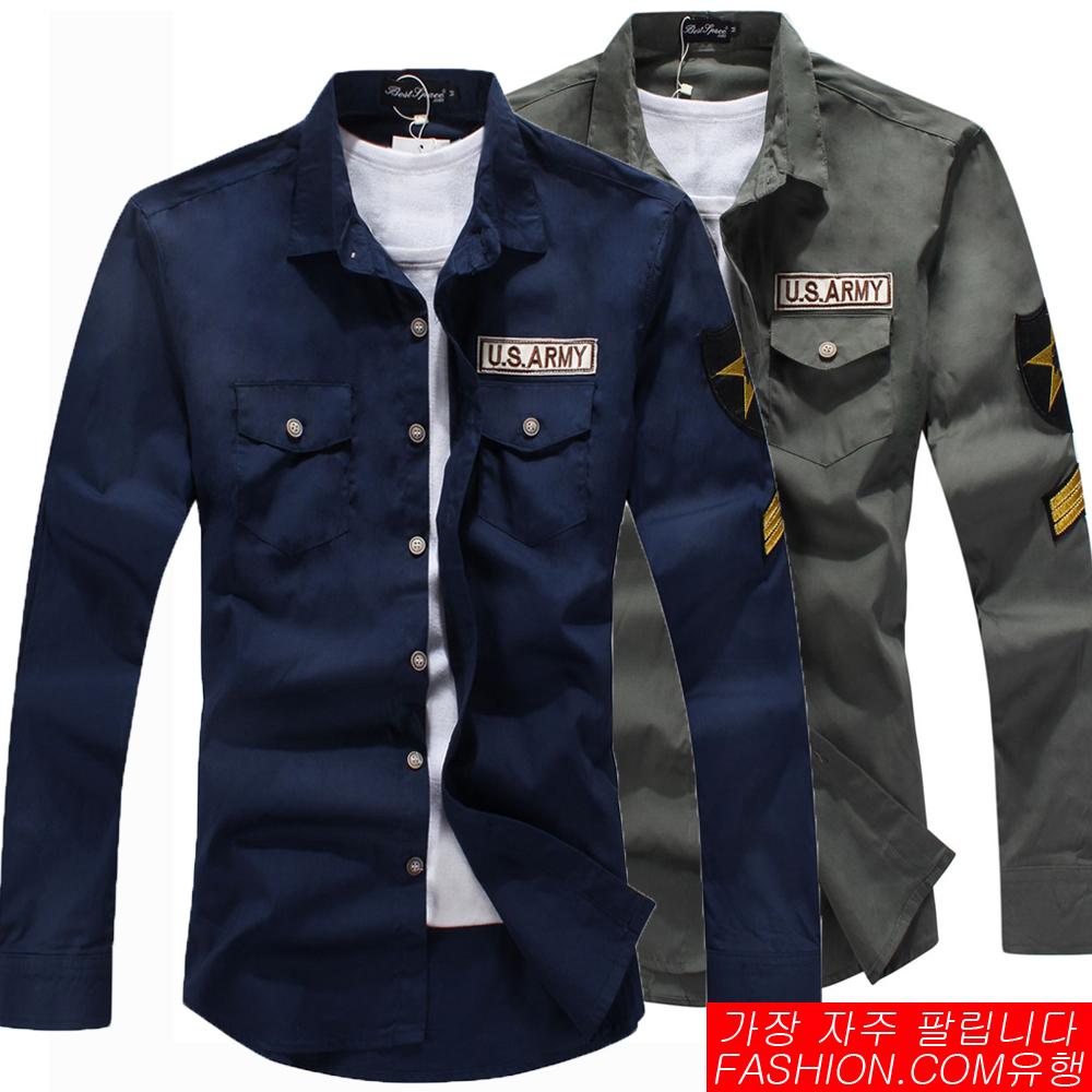 DITION 軍裝風US ARMY布章軍肩襯衫小外套-共三色
