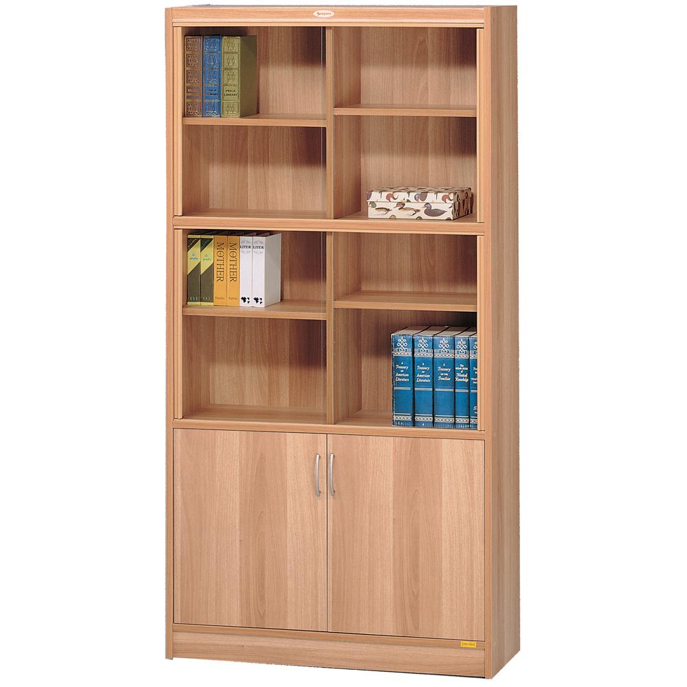 十二段玻璃雙門櫃 / 書櫃 / 書櫥 / 玻璃書櫃 / 高櫃 / 收納櫃& DIY組合傢俱