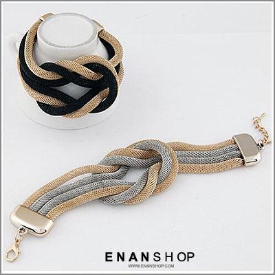 惡南宅急店【0336B】韓國熱賣款 簡約歐美設計 編織活結造型手鍊