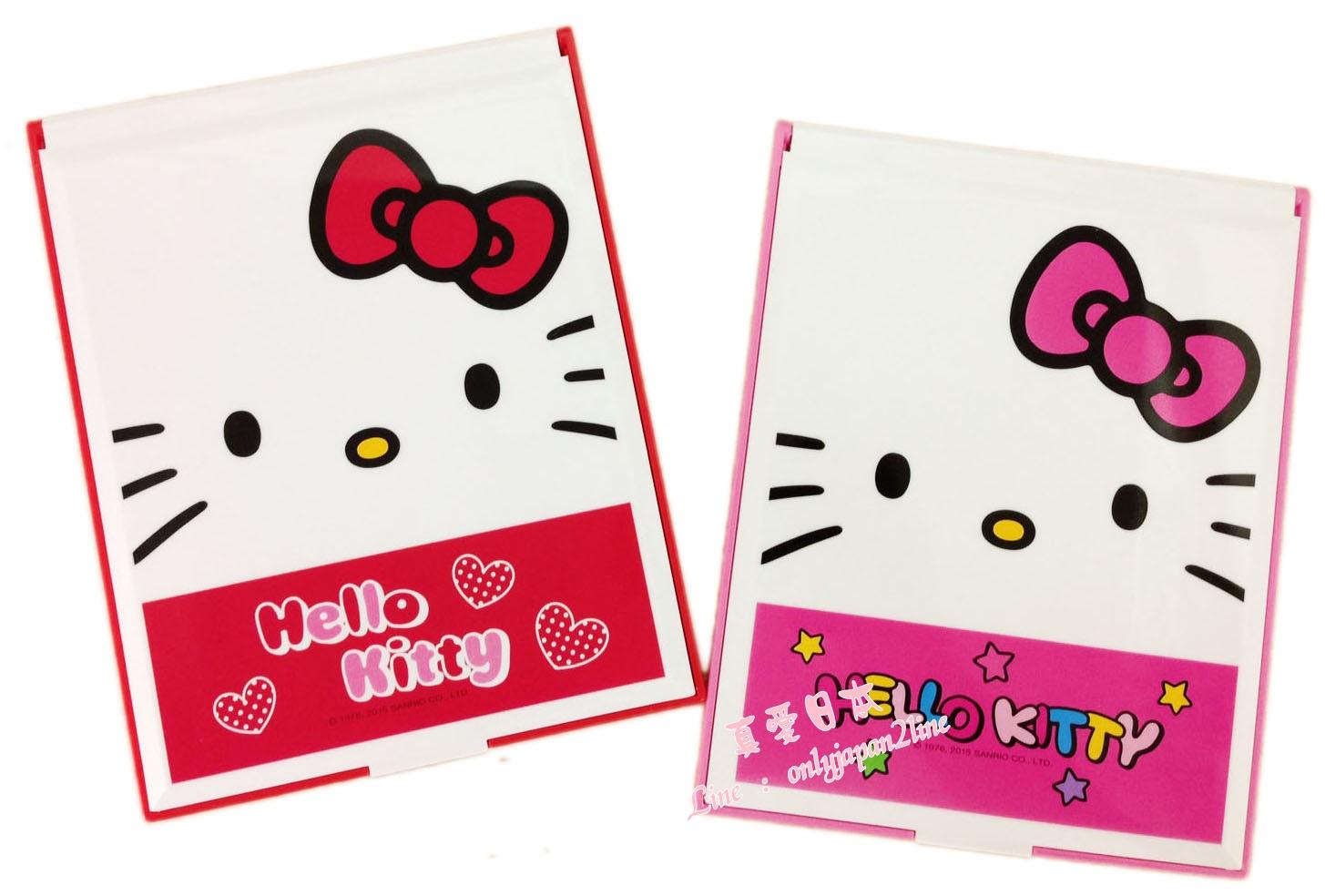 【真愛日本】16081600013超大桌上立鏡-彩色字母兩色    KITTY三麗鷗 凱蒂貓 隨身鏡 美妝 鏡子