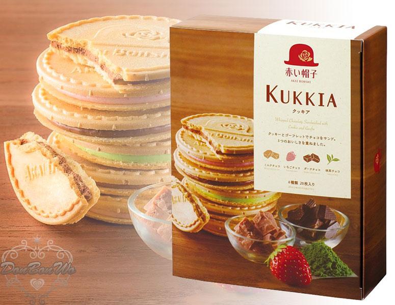 日本紅帽子KUKKIA法蘭蘇夾心餅乾4種口味合一20入禮盒組164906海渡