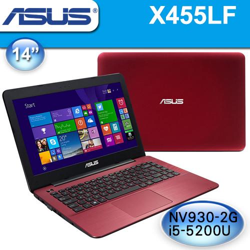 ASUS 華碩【全新品】X455LF-0173F5200U 紅》14吋, i5-5200U, 4G記憶體, 1TB硬碟, 獨顯2G, Win10, 2年保