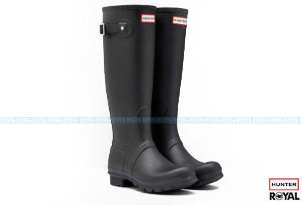 Hunter Boots ORIGINAL TALL 新竹皇家   黑色 霧面 時尚 橡膠 赫特威靈頓靴雨靴 男女款 NO.I2340