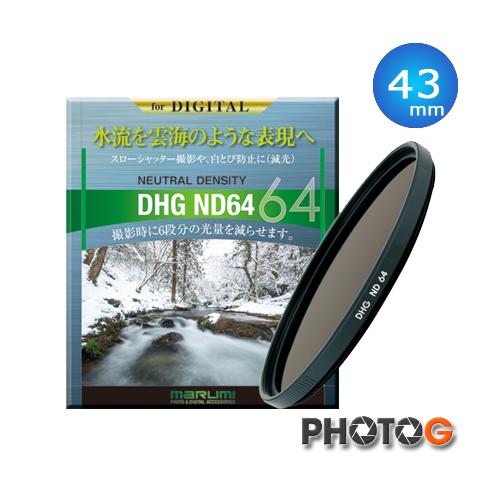 MARUMI DHG ND64 43mm 43 mm 減光鏡 動力多層鍍膜 減6格 日本製 (彩宣公司貨)