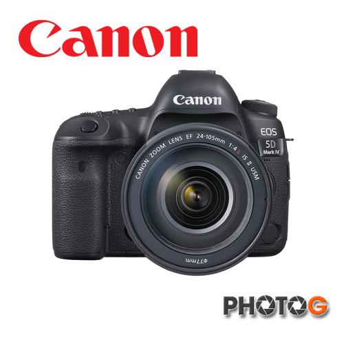 【申請送 減壓背帶+LPE6原廠電池】 Canon EOS 5D Mark IV 5D4 + EF 24-105mm f/4L IS II USM鏡頭 ;彩虹公司貨)