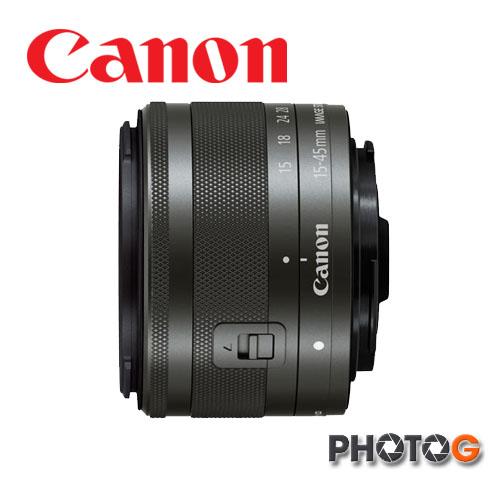 Canon EF-M 15-45 mm f/3.5-6.3 IS STM  標準變焦鏡頭 (適用 EOS M10 , M3 , M2 , M ( 全新拆鏡 附保卡 黑色 , 1545 ;彩虹公司貨 eosm m2 m3 m10 )