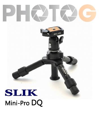SLIK Mini Pro DQ 桌上型 輕巧 超迷你 鋁合金 快拆 球型雲台 腳架 (附腳架袋) 立福公司貨