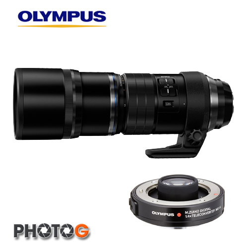 OLYMPUS M.ZUIKO DIGITAL ED 300 mm F4 PRO + MC-14  1.4X 增距鏡 組合  加裝後約135相機  840mm 焦段( ;元佑公司貨)
