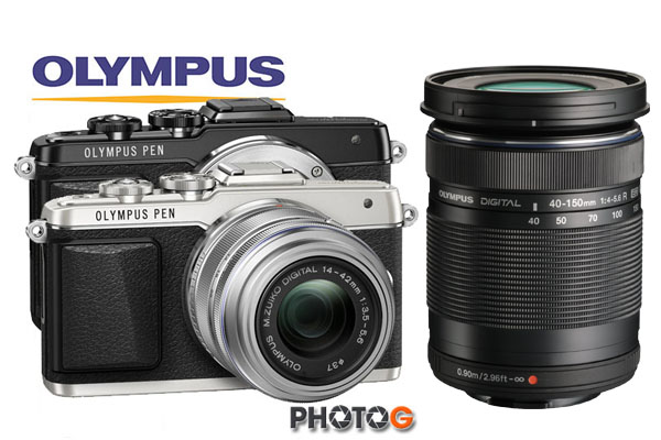 【送原廠包+32G+清保組】Olympus  E-PL7 + 14-42mm IIR + 40-150mm  II R 雙鏡頭組合   WIFI PEN Lite 元佑公司貨 EPL7
