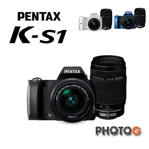 PENTAX K-S1 數位單眼相機 含DAL18-55 + DAL50-200 鏡頭(KS1 kit 雙鏡組, 富?公司貨)