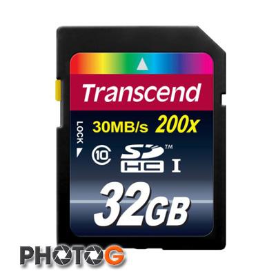 創見 Transcend SDHC 32GB 200x 記憶卡 (Class 10,終身保固)