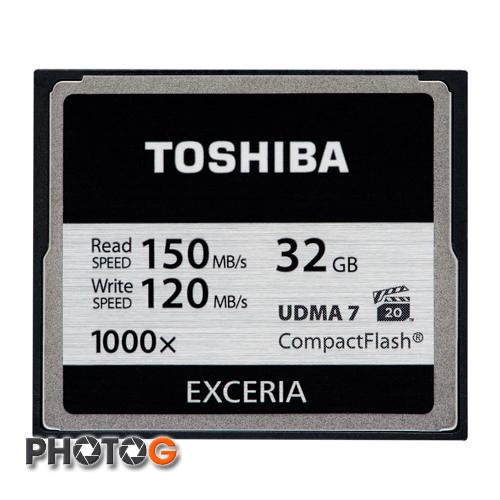 1000X TOSHIBA 東芝 32G / 32BG EXCERIA  CF 記憶卡 ( 寫入150 mb/ s 讀取 120mb/s ) (富基電通公司貨)