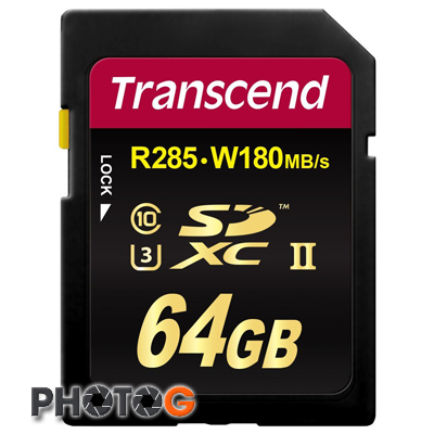 1900X 創見 Transcend SD SDXC Class 10 UHS-II U3  64G  超高速 記憶卡 64GB  ( 讀取 285MB/s  寫入 180MB/s  終身保固)