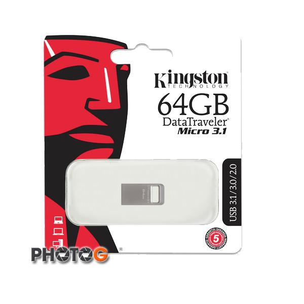 KingSton 金士頓 64G  64GB  DataTraveler Micro 3.1  隨身碟 DTMC3/64GB (免運費)