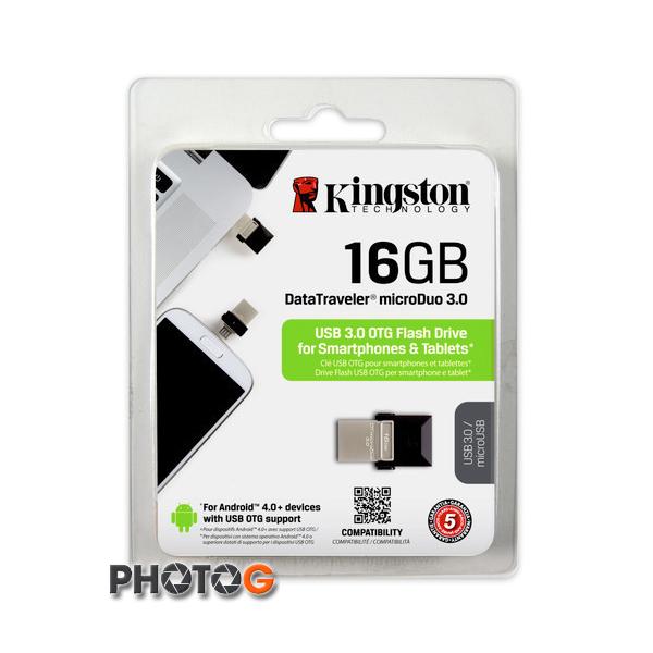KingSton 金士頓 16G / 16GB DataTraveler microDuo (支援 USB OTG) USB 3.0 版  隨身碟 DTDUO3/16G (免運費)