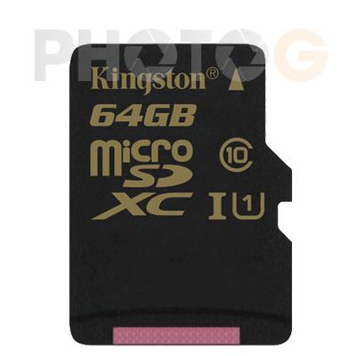 Kingston SDCA10 SDXC 64GB 64G class 10 UHS-I  讀90mb/S 寫45mb/s 終身保固