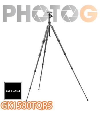 GITZO GK1580TQR5 6X 旅行家Traveler 1號 碳纖維三腳架套組 五節 文祥公司貨