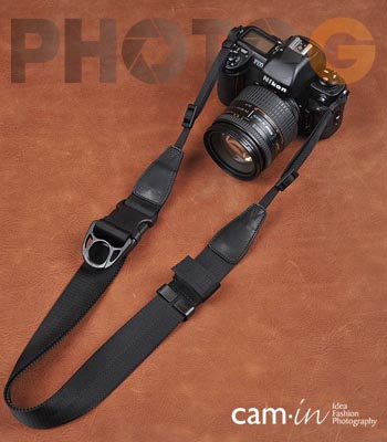 Cam-in Camin 忍者相機背帶 8800 黑色 速調 寬版 38mm 單車逸品 600D/7D/5D/D700/D800/D5100/A77/SONY