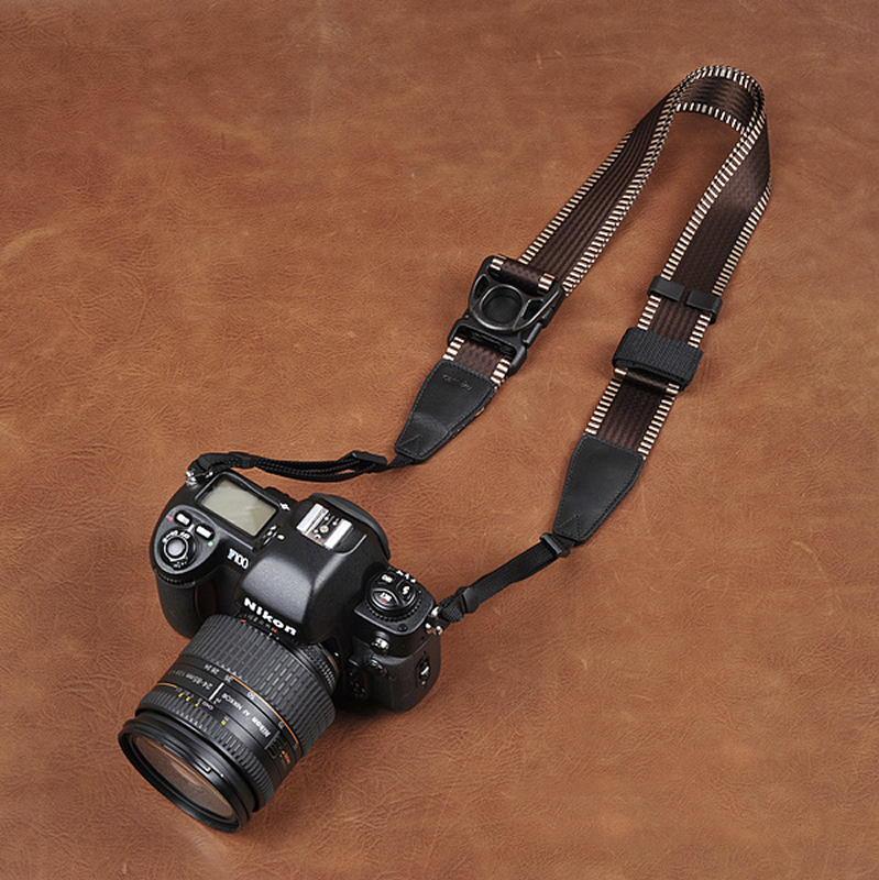 Cam-in Camin 忍者相機背帶  8821 膠片版咖啡色  速調 寬版 38mm 單車逸品 600D/7D/5D/D700/D800/D5100/A77/SONY