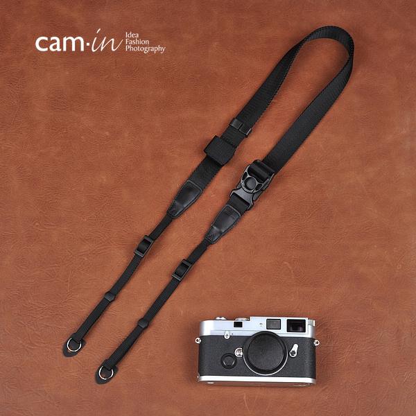 Cam-in Camin 忍者相機背帶 8830 黑色 速調 25mm 單車逸品 GF2/EP3/600D/7D/5D/D700/D800/D5100/A77/SONY/M6/M1
