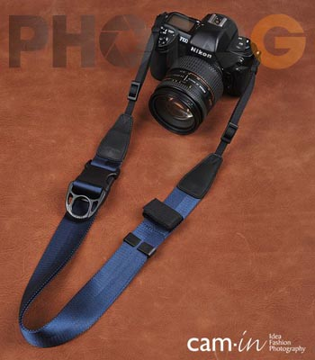 Cam-in Camin 忍者相機背帶 8809 深藍色 速調 寬版 38mm 單車逸品 600D/7D/5D/D700/D800/D5100/A77/SONY