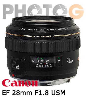 Canon EF 28mm F1.8 USM 廣角鏡頭(28 1.8;彩虹公司貨)
