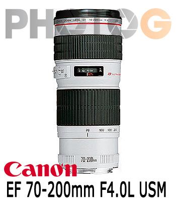 Canon EF 70-200mm F4.0L USM 望遠變焦鏡頭(70-200;彩虹公司貨)