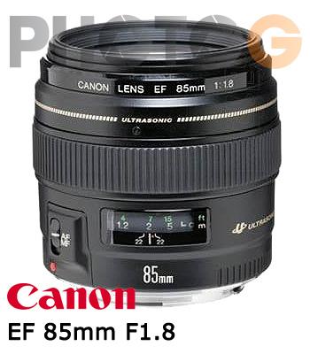 Canon EF 85mm F1.8 USM 中望遠鏡頭 全幅 最佳比例 人像鏡  ( 85 1.8; 彩虹公司貨)