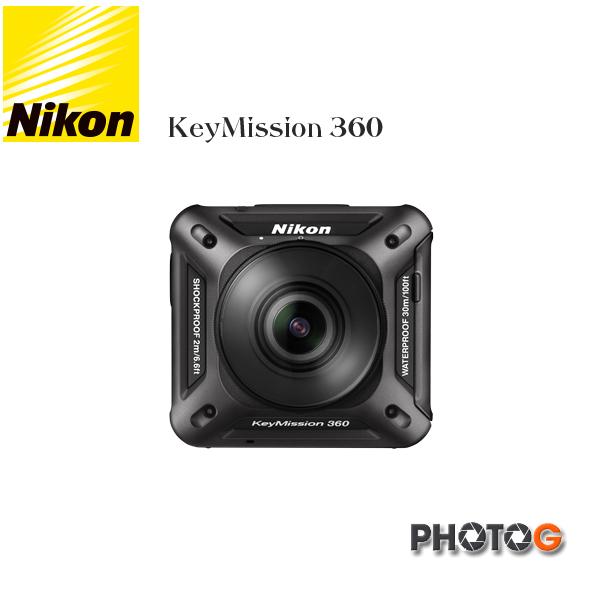 【預購】Nikon KeyMission 360 運動 相機 攝影機 防水、防撞、防寒 及防塵 (國祥公司貨)