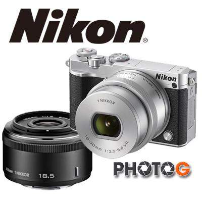 Nikon 1 J5 j5   含 10-30mm  f4.5-5.6 + 30-110mm  雙變焦鏡頭組 【12/31前上網登錄,送 EN-EL 24 鋰電池;隨貨送TF 32G+清潔組+保護貼】  國祥公司貨