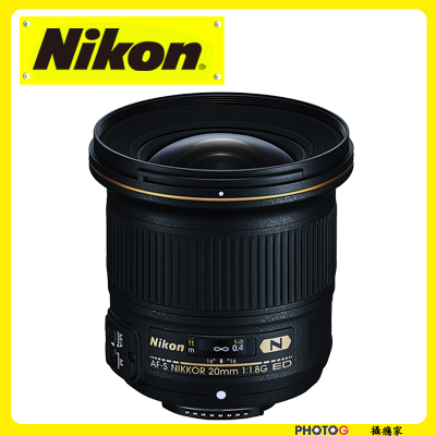 Nikon AF-S NIKKER  20mm F1.8G  廣角鏡頭 FX 格式 ( 20 1.8G ; 國祥公司貨)