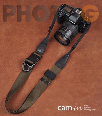 Cam-in Camin 忍者相機背帶 8804 橄欖色 速調 寬版 38mm 單車逸品 600D/7D/5D/D700/D800/D5100/A77/SONY