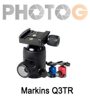 Markins Q-Ball Q3 Traveler 球型雲台 (Q3TR,黑色/酒紅色)