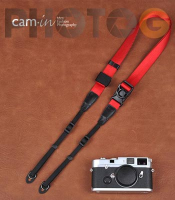 Cam-in Camin 忍者相機背帶 8843 紅色 速調 25mm 單車逸品 GF2/EP3/600D/7D/5D/D700/D800/D5100/A77/SONY/M6/M1