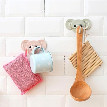 創意小物 大象掛勾(顏色隨機) 多用掛勾 廚房 浴室 居家 黏貼 免釘 懸掛 收納 鑰匙