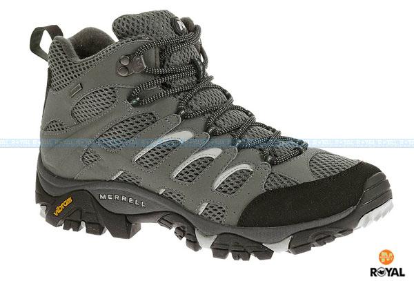 MERRELL 新竹皇家 MOAB MID GORE-TEX 灰黑 防水 運動鞋 高筒 男款 NO.A7078