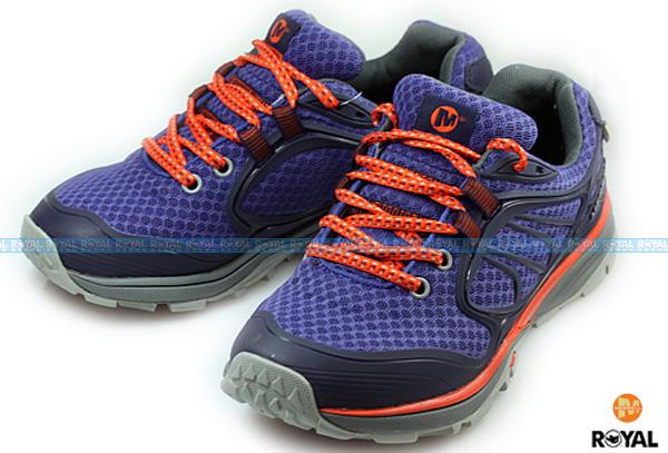 MERRELL 新竹皇家 VERTERRA SPORT GORE-TEX 藍紫/橘 防水運動鞋 低筒 女款 NO.I4395