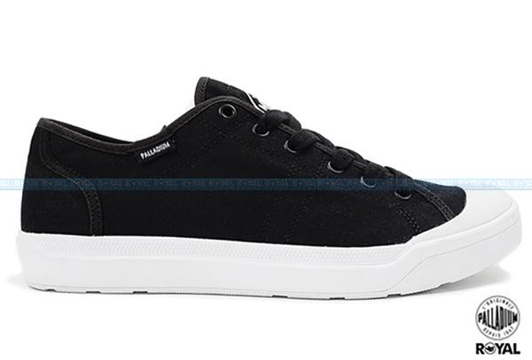 Palladium 新竹皇家 PALLARUE CVS 黑色 布質 休閒鞋 男款 NO.A8081