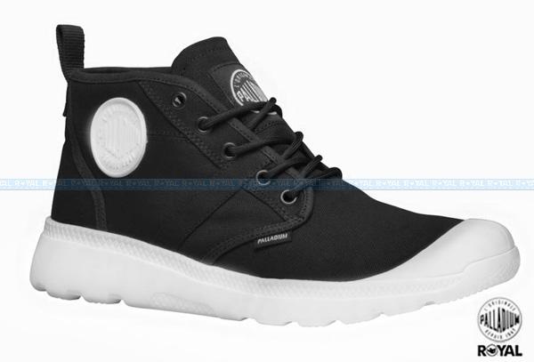 Palladium 新竹皇家 Black & White Collection 黑色 布質 後拉鍊 高筒 男款 NO.A8111