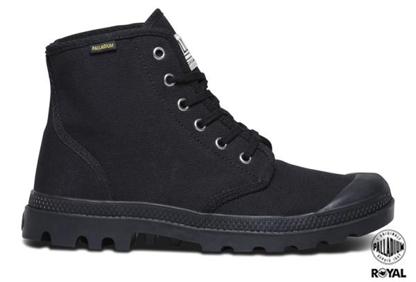 Palladium 新竹皇家 PAMPA HI ORIGINALE 黑色 布質 原創經典系列 休閒鞋 高筒 男女款 NO.A8502