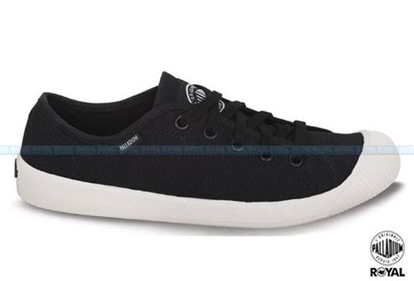 Palladium 新竹皇家 FLEX LACE 黑色 水洗布 休閒鞋 低筒 女款 NO.I4069