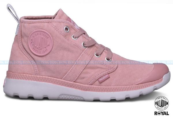 Palladium 新竹皇家 PALLAVILLE HI CVS 粉色 水洗布 反折靴 女款 NO.I6473