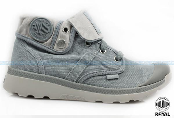 Palladium 新竹皇家 PALLAVILLE BAGGY CVS 藍灰 水洗布 反折靴 女款 NO.I6581