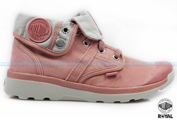 Palladium 新竹皇家 PALLAVILLE BAGGY CVS 粉膚色 水洗布 反折靴 女款 NO.I6582