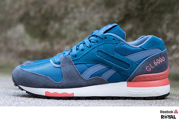 Reebok 新竹皇家 GL 6000 WW 藍色 Classic復古 潮流鞋 女款 NO.I5828