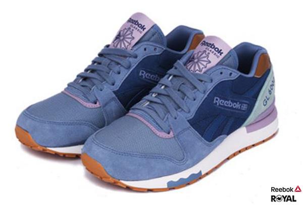 Reebok 新竹皇家GL 6000 FLEUR 藍紫色 復古 休閒 運動鞋 女款 NO.I6162