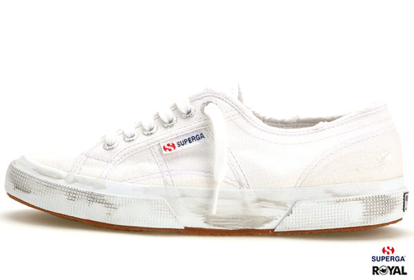 SUPERGA 義大利國民鞋 2075 新竹皇家 白色 仿舊款 帆布 百搭 男女款 NO.A5084
