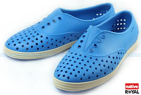 新竹皇家 加拿大 Native JERICHO 藍色 呼吸 輕量 橡膠 鞋款 女款 免運費NO.I3701