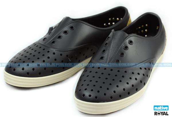 加拿大 Native 新竹皇家 JERICHO 黑金色 輕量 呼吸 懶人鞋 女款 NO.I4703